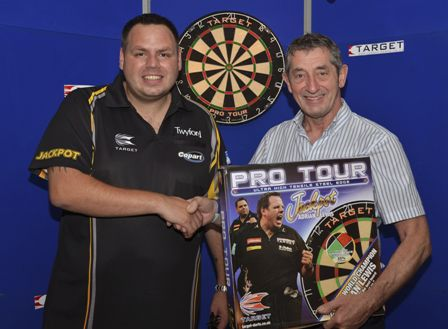 #Darts #Champion Adrian Lewis at #Twyford HQ