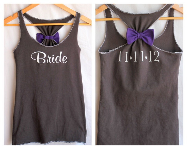 Cute Bride tank top to wear morning of