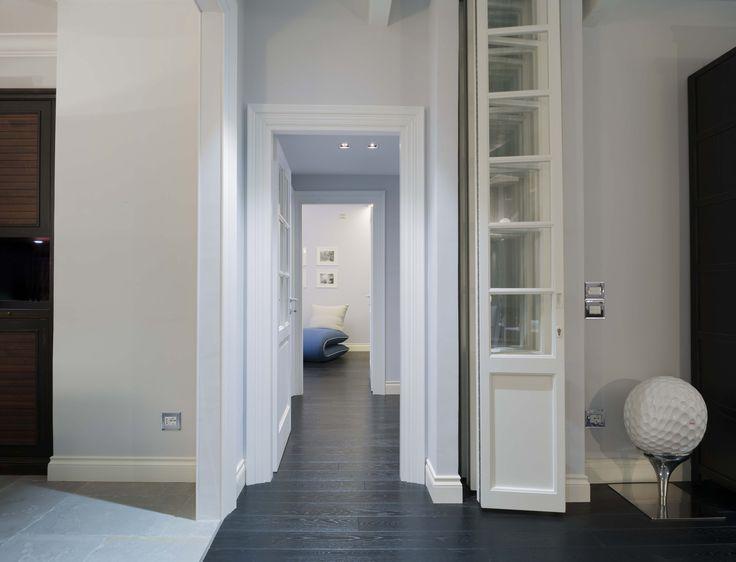 Vimar domotica By-me appartamento a Siena. Corridoio con la serie Eikon Evo