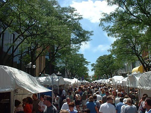 Ann Arbor Art Fairs-one of the largest in the country.  4 separate art fairs at once.