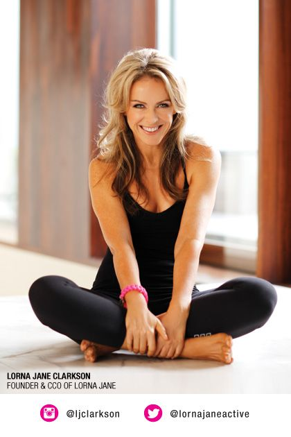 lifestyle – relaxed/ Lorna Jane Clarkson Founder of Lorna Jane and the Lorna Jane Philosophy of Move Nourish Believe….. Cheers… #Big Al Connolly