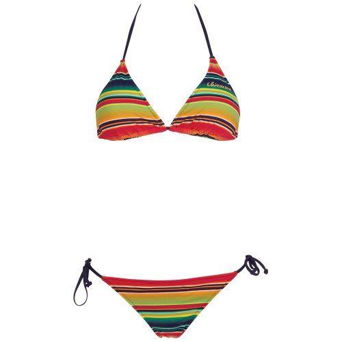 Chiemsee Triangle Bikini Badeanzug Tankini Edyta - Traje de dos piezas para competición de mujer, color multicolor, talla XS