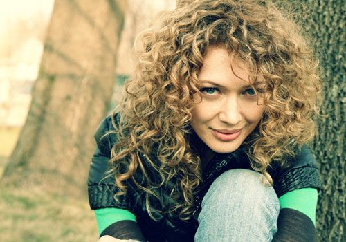 theoretically my hair should be able to accomplish this ...theoretically. Curly Blonde Hair