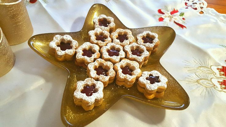 Christmas Shortbread filled with  Strawberry