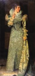 'Harmony in Grey and Green: Miss Cicely Alexander', James Abbott McNeill Whistler   Tate