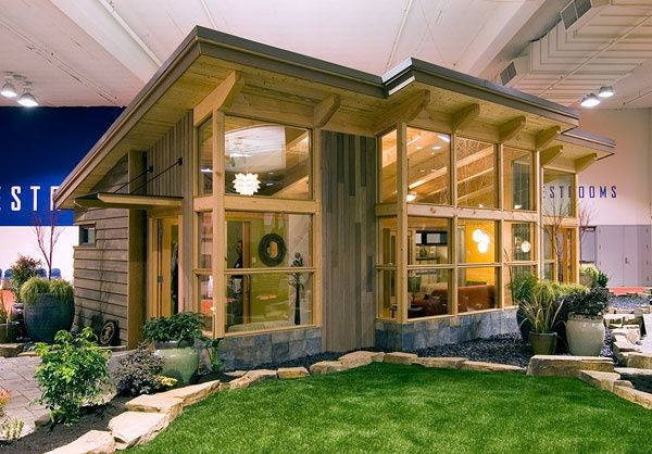 FabCab Tiny House Kit - 550 sq. ft,, 1 bedroom. Spacious with lots of windows, open floor plan, and full bathroom. Guest house