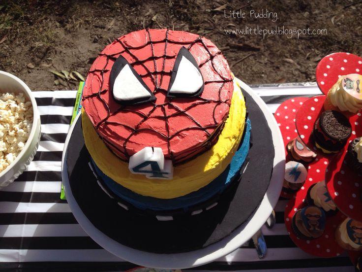 Spiderman cake #spidermancake #superherocake #spiderman #fourthbirthday #littlepuddingcakes