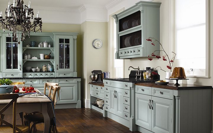 Blue Painted Kitchen Cabinets Photos