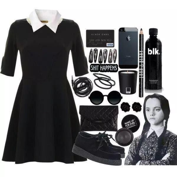 wednesday addams my fashion idol since i was a youngin - Halloween Costumes Wednesday Addams