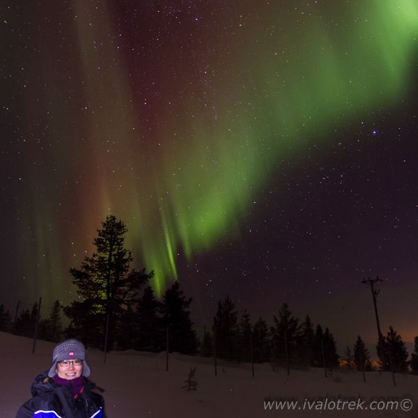 The Northern lights in Inari