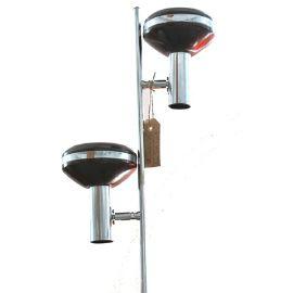 Seventies brown floor lamp, 2 spots