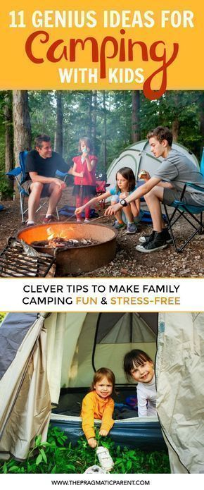 7 Genius Camping Hacks to Make Camping with Kids Easy & Fun! How to Organize for Family Camping, Prepare Your Campsite, Tips with Kids, Safety & Food Hacks, and Tips to Ensure a Great Camping Experience with Kids. #campingfun #campingsafety #campinghacks #campingtip #campingtips #campingfoods #campinghacksfood #campinghackswithkids #familycamping