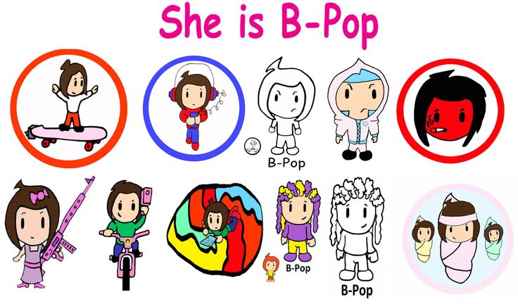 She Is B-Pop Super Pee Wee Kids Kodomo Art Anime Cartoon -8238