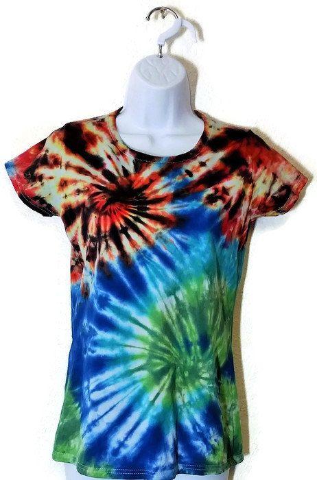 Tie Dye T-Shirt, Women's tie dye, Women's t-shirt, Small Skinny Fit, Ladyfit t-shirt, Alternative clothing, festival clothing, UK size 8-10