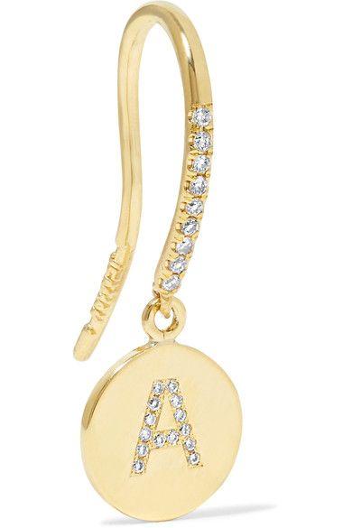 Jennifer Meyer - 18-karat Gold Diamond Earring - T