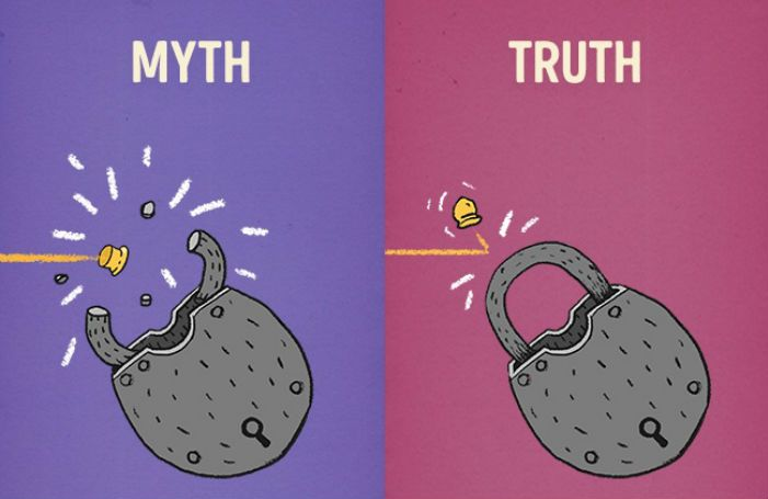 12 illustraties die je eindelijk de waarheid vertellen over ongeloofwaardige filmmythes