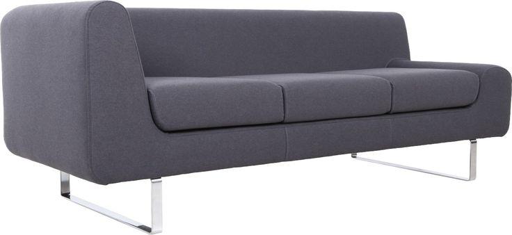 Lofa 3seter sofa i tekstil (75%bomull, 25% akryl). Finnes i flere farger. Dimensjoner: L213 x H77 x D81cm, setehøyde: 44 cm. Kr. 7290,-