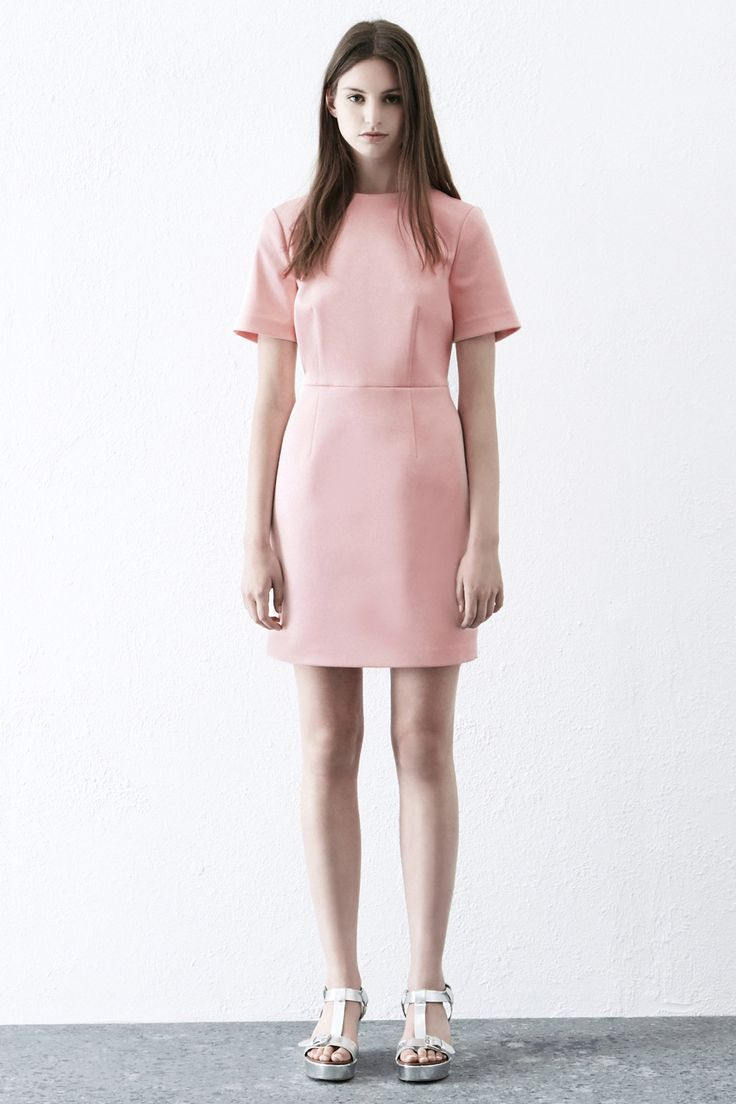 Dresses | Pink STRUCTURED SHIFT DRESS | Warehouse