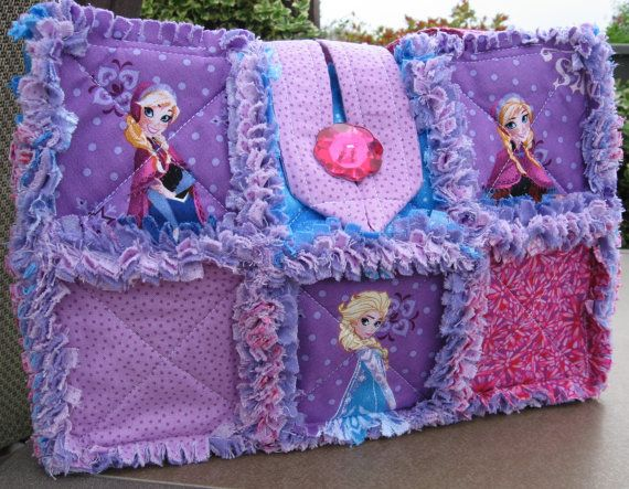 Disney Frozen Princess Elsa Anna Purse Bag Rag Quilted Child Size on Etsy, $39.00