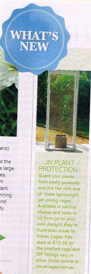 Klever Cages in better homes and Gardens magazine March 2016