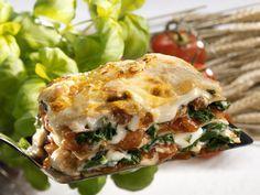 Lasagne mit Spinat und Tomaten - smarter