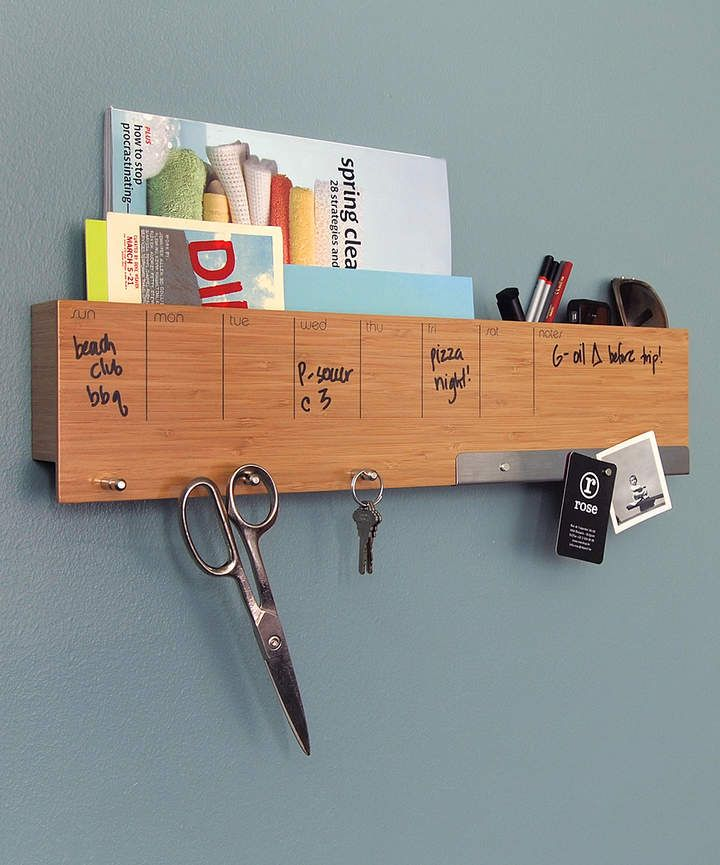 Bamboo Sort It Out Wall Caddy Meal Planning Scheduling Bamboo