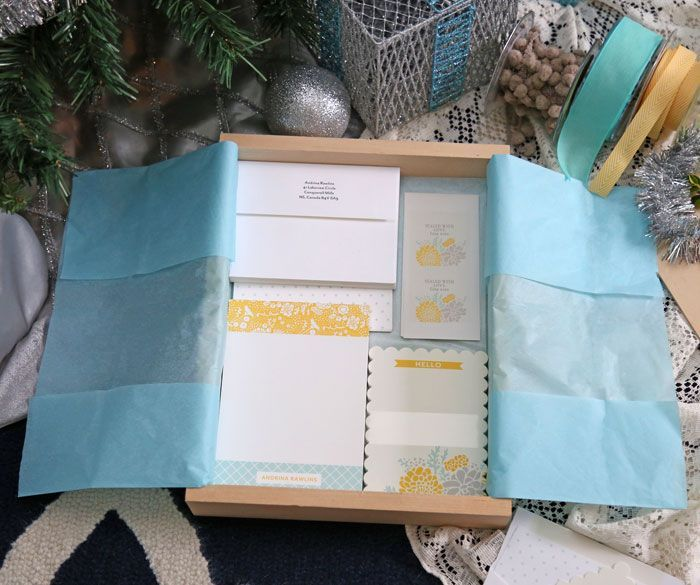 Personalized Stationary Set gift and gift wrapping idea - brilliant!