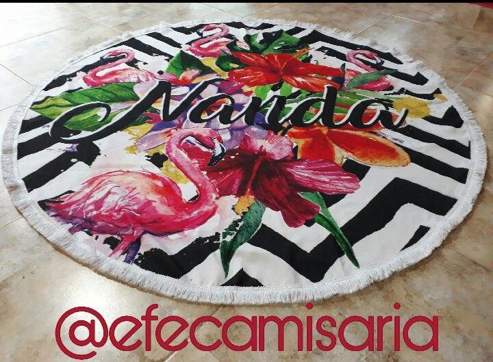 Canga redonda personalizada   @efecamisaria ##modapraia #Canga #saídadepraia #verão #summer #beach #beachwear ##tropical #cangaredonda