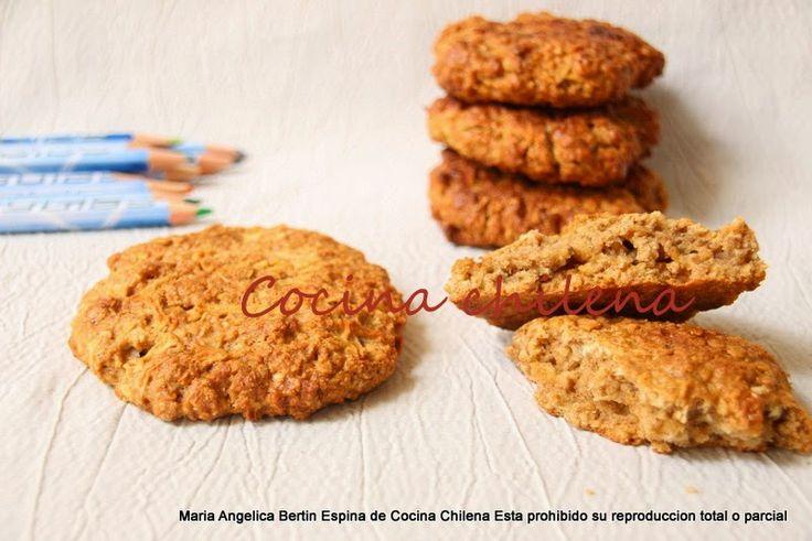 OATS, APPLE AND HONEY BISCUIT - GALLETON DE AVENA, MANZANA Y MIEL - .COCINA CHILENA