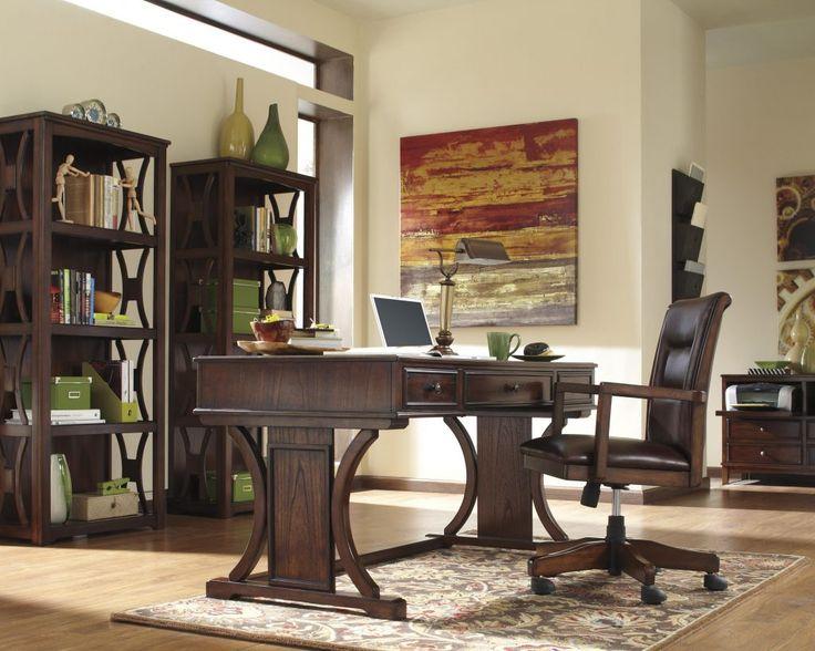 Signature Design By Ashley Devrik Home Office Desk With Drop Down Keyboard Tray Pilgrim Furniture City Table Hartford Bridgeport Connecticut