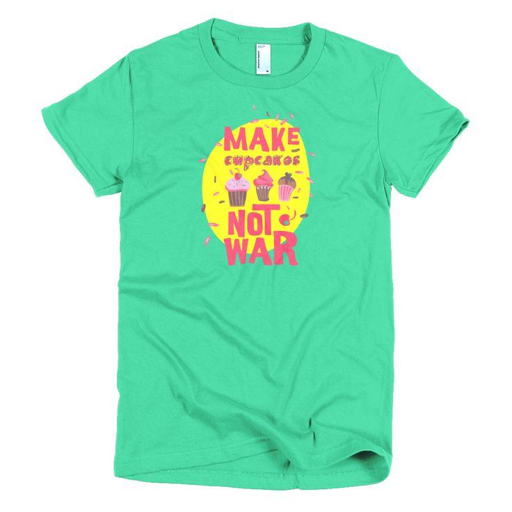 Cupcakes Short sleeve women's t-shirt  #me #happy #smile #picoftheday #like #fun #newstuff #hashtagtogo #tagforlikes #instadaily