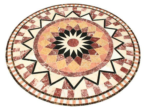 mosaique pour table ovale   Quelques motifs de plateaux en mosaïque de marbre                                                                                                                                                                                 Plus