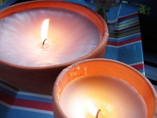 how to make a big candle out of small ones