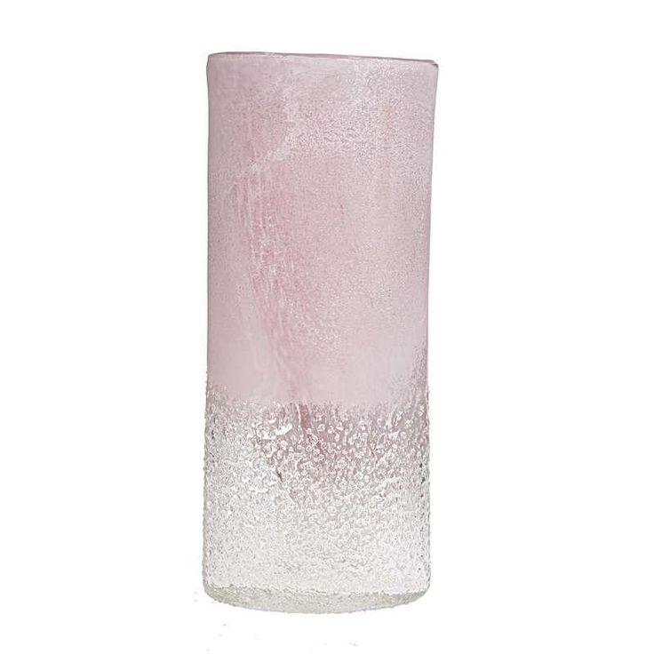 Βάζο γυάλινο Ροζ-Λευκό (small)  Τιμή: €24,00 http://www.lovedeco.gr/p.Vazo-gyalino-Roz-Leyko-small.869232.html