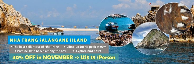 Big Sale off in November 2015: 40% DISCOUNT on the best seller Nha Trang excursion. Nha Trang Salangane island tour 1 day @ 18 US$/person: http://vietnamcheappackages.com/nha-trang-beach/nha-trang-salangane-island-1-day-group-tour.html #vietnambeach #nhatrang