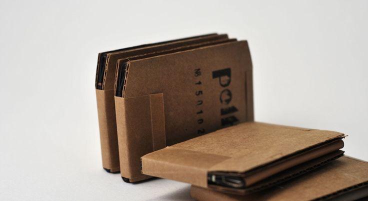 Cardboard wallet packaging