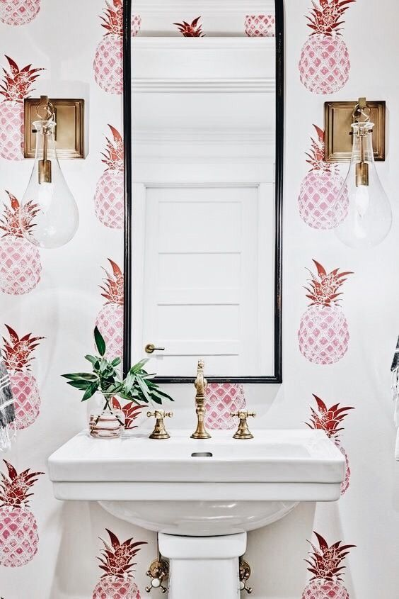 Baños con decoración tropical