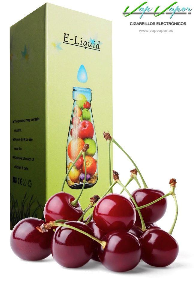 e-liquid Cereza  http://www.vapvapor.es/liquido-frutas-cigarrillo-electronico  Líquidos para cigarrillos electrónicos de la marca e-liquid. Nuestra marca e-liquid se caracteriza por su gran variedad de aromas y sabores.     - e-liquid sabor Cereza (afrutado)     - Categoría: frutas