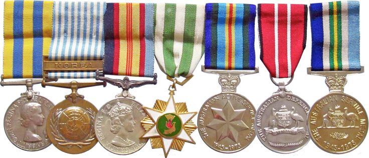Korea/Vietnam War Group of Seven; Australian Active Service Medal 1945-1975 and Australian Service Medal 1945-1975; Australian Defence Medal; mounted Group of Four compr Korea Medal and Korea UN Medal edge impressed 37383 N.E.Harris, Vietnam Medal edge impressed 217094 N.E.Harris, and South Vietnam Campaign Medal reverse engraved 217094 N.E.Harris.  Lot: 722. Estimate: $2,500.  Further info: http://downies.com/aca/Auction317/Catalogue_020.html