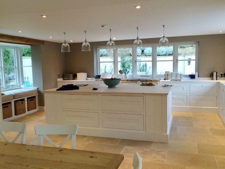 Cavendish Tumbled Limestone Floor Tiles from Flagstones Direct. #stoneflooring #kitchen #flooring