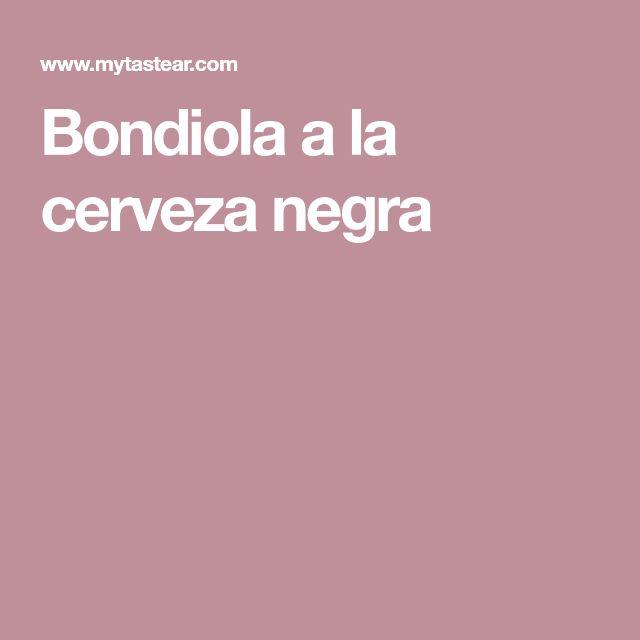 Bondiola a la cerveza negra Recipes