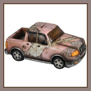 Rivers Edge Truck Piggy Bank, Pink Camo, 9-Inch This ceramic piggy bank is one of a kind. Finding a truck shaped coin bank was difficult, let alone a pink camo truck.  http://theceramicchefknives.com/ceramic-piggy-banks/  ATM Piggy Bank, Ceramic Piggy Banks, Disney Minnie Ceramic Piggy Bank, Disney Minnie Mouse,