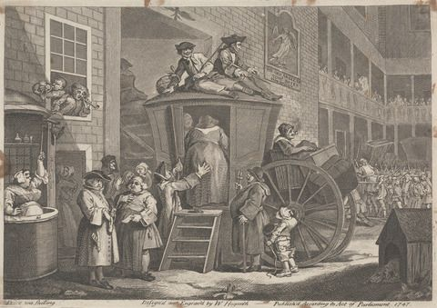 William Hogarth, The Stage Coach; Or Country Inn Yard, 1747. Yale Center for British Art, Paul Mellon Collection