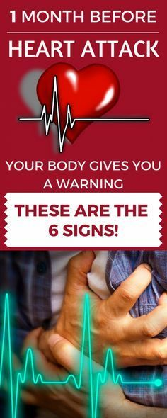 A Month Before A Heart Attack, Your Body Gives You These 6 Warning Signs