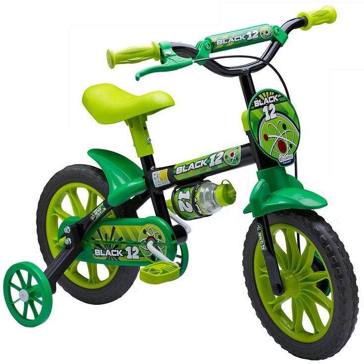 Bicicleta Infantil MTB Aro 12 Masculina Black Nathor -Brinquedos - Bicicleta Aro 12 - Walmart.com