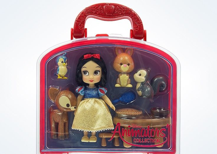 "Disney Princess Snow White Animator Mini Doll Set 5"" With Accessories New"