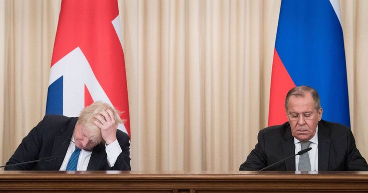How the hell is this IDIOT Foreign Secretary ??? In the first trip there by a Foreign Secretary in five years, hapless Mr Johnson began a joint press conference with Sergey Lavrov with a joke about his opposite number snapping up Bentleys