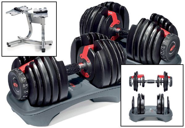 Bowflex Adjustable Dumbbell Set - I have these, and love them! May need to get the heavier set.