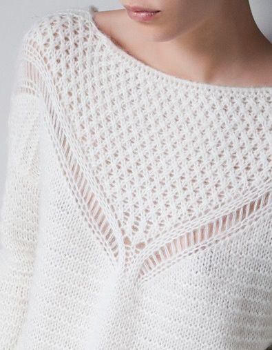 OVERSIZED KNITTED SWEATER - Knitwear - TRF - ZARA