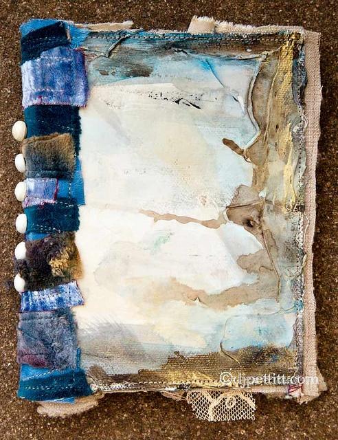 small journal cover by dj pettitt #mixed_media #fabric_book
